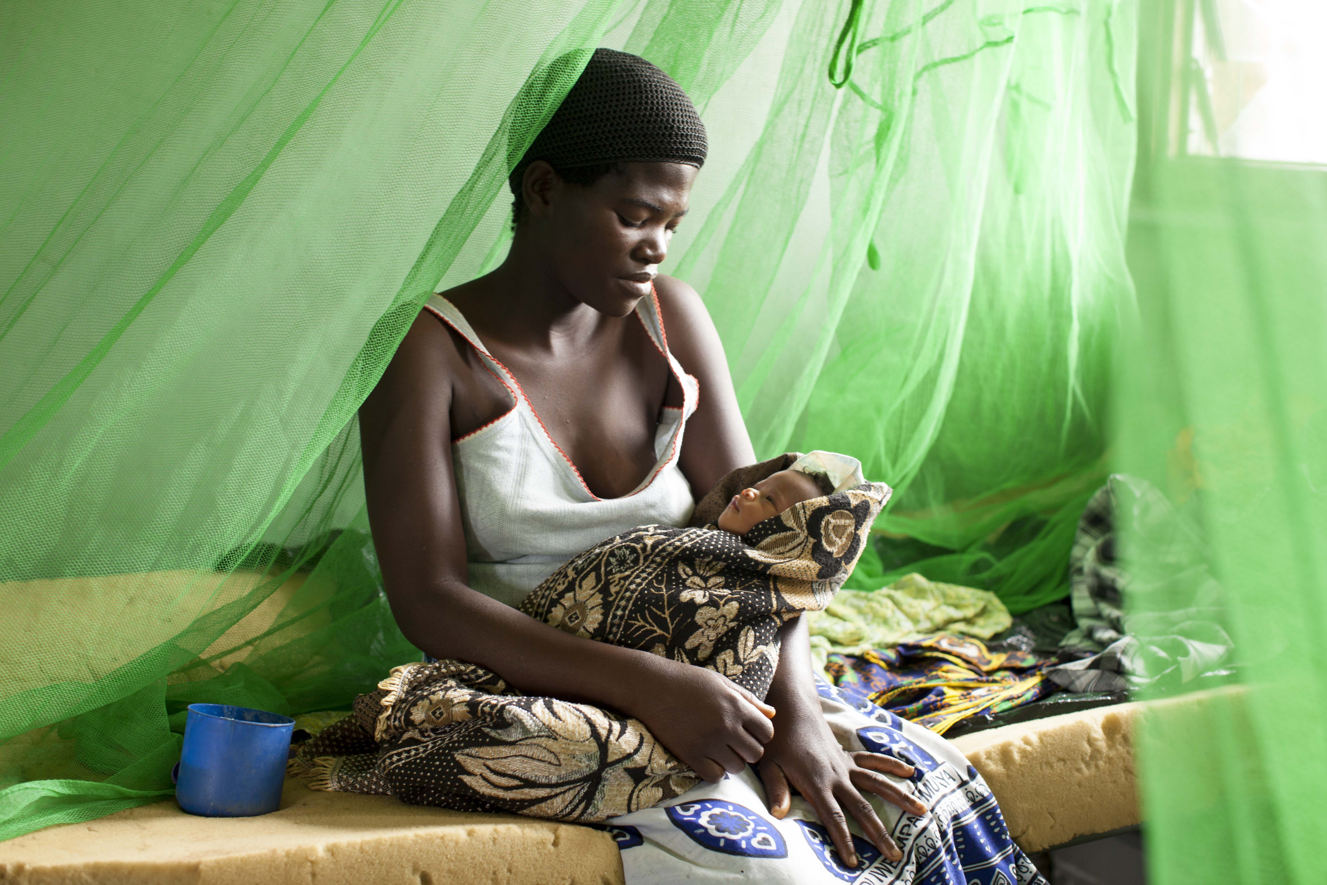 Mother and baby in malawi