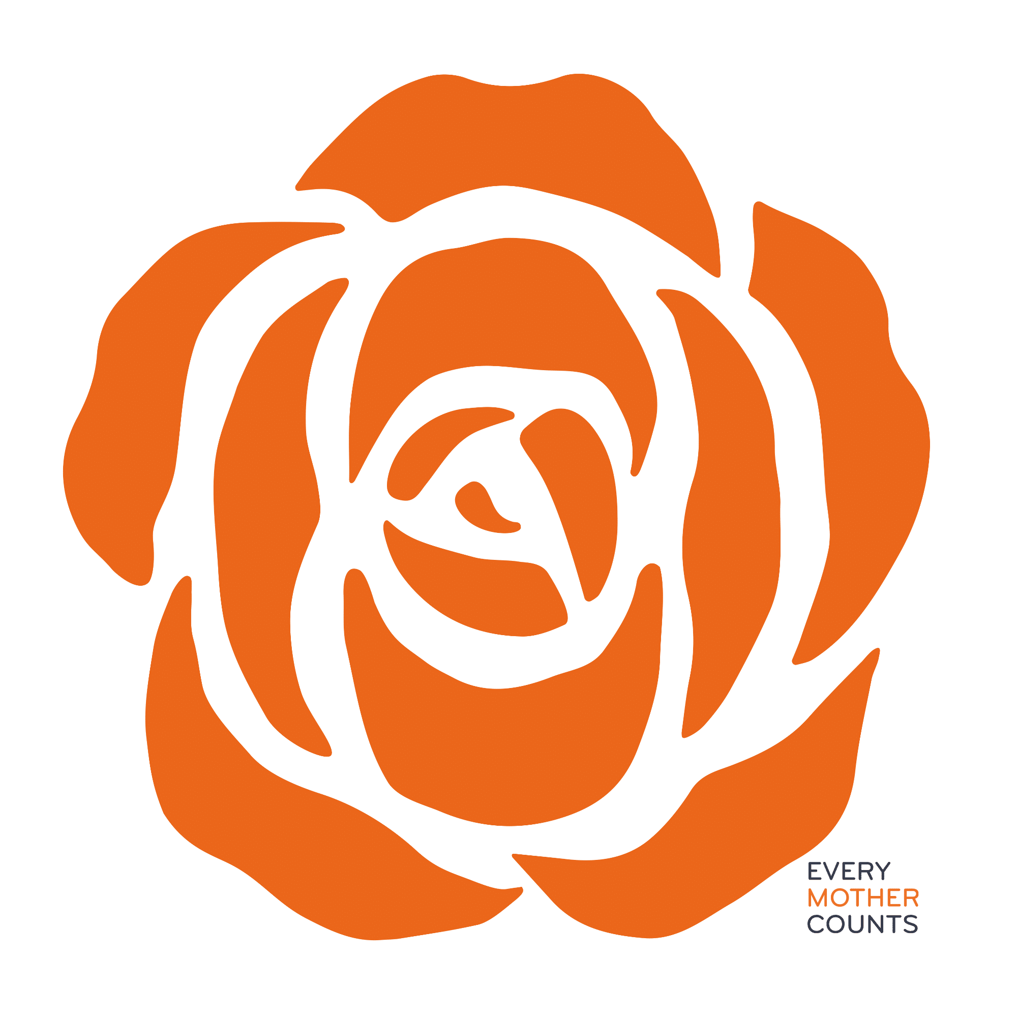 Every Mother Counts Orange Rose Logo Gooseberry Pink