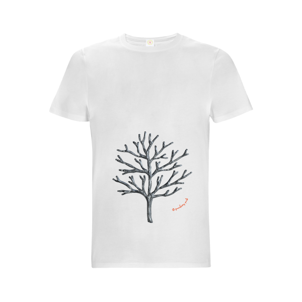 Winter tree design on white background by Gooseberry Pink