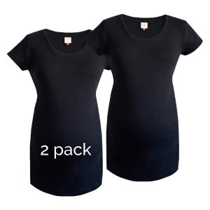 2 pack of plain black maternity tops