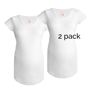 2 pack of plain white maternity tops